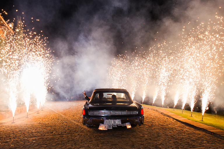 wedding pyrotechnic sparkler exit
