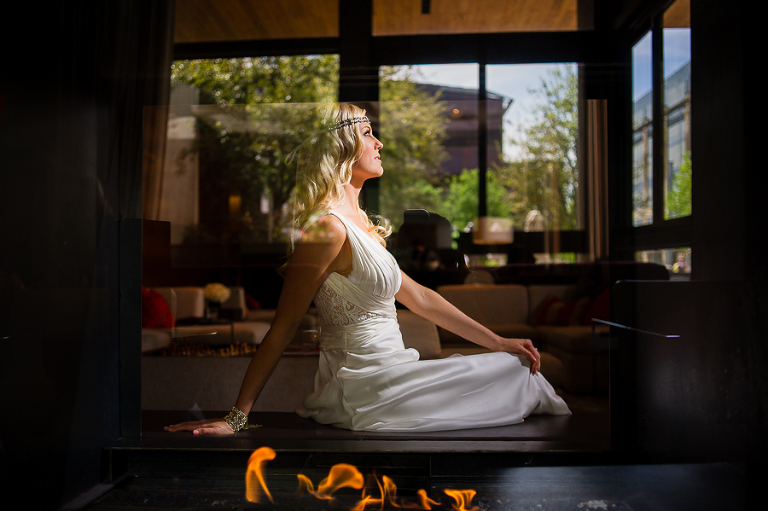 creative bridal session