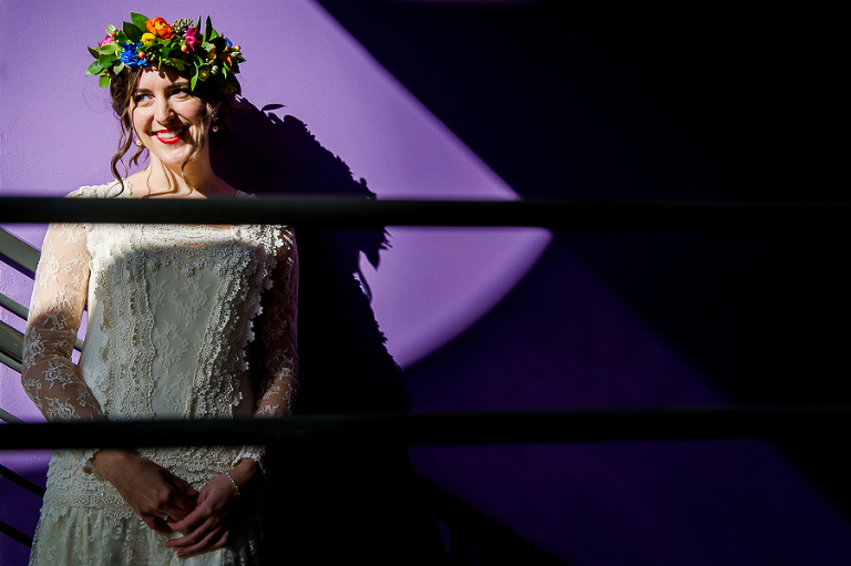 colorful bridal sessions