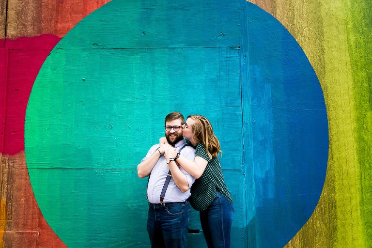 colorful austin engagement photographers