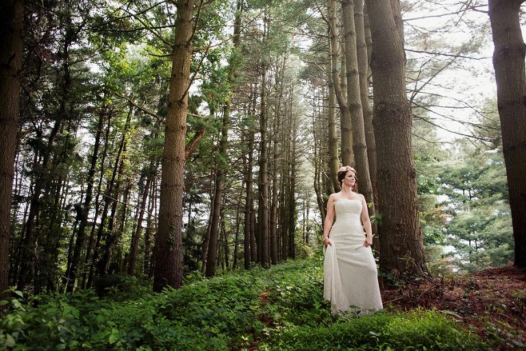 park bridal portrait photography